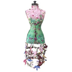 Incredibly Enchanting Mixed-Media Dress Form Sculpture Titled Spring