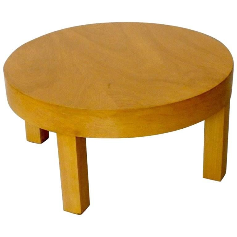 Low Round Art Deco Side Table or Stand For Sale