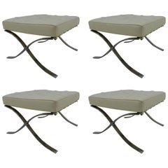 Set of Four Barcelona Footstools / Taburets by Ludwig Mies van der Rohe