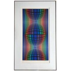 Victor Vasarely Op-Art Screen Print, 1960s