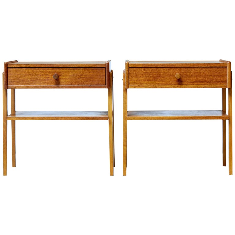 Pair of Danish Teak 1960s Bedside Tables