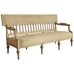 Gustavian Sofa / Settee, Origin Sweden, circa 1785
