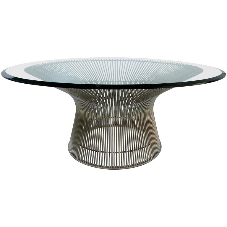 Warren Platner for Knoll Coffee Table Designed, Platner Collection, Italy