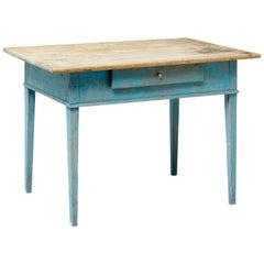 19th Century Rustic Swedish Painted Pine Table