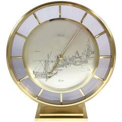 Midcentury Kienzle Brass Table Clock with Albrecht Durer Dial, 1960s, Germany