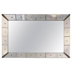Large Hollywood Regency Coin Spot Mirror Frame Venetian Mirror
