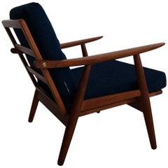 Early Hans J Wegner GE-270 Easy Chair in Teak, Made in Denmark