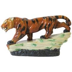 Tiger Cat Animal Art Deco Sculpture