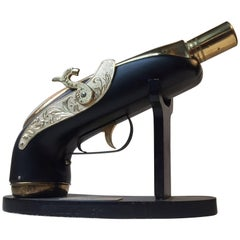 Midcentury Novelty, Musical Pistol Decanter, Japan, 1960s