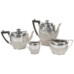 Regency Style English Sterling Four-Piece Tea and Coffee Service