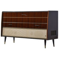 Grundig Majestic Turntable Console Stereo Credenza, Fully Serviced and Working