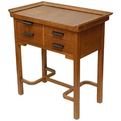 Art Deco Dressing Table, Oak and Vintage, 1950s