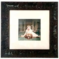 "1959 Slim Aarons Giclee Photograph ""Beauty & The Beast"" Framed"