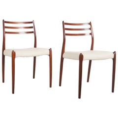 Pair of Dining Chairs by Niels Otto Møller Model 78