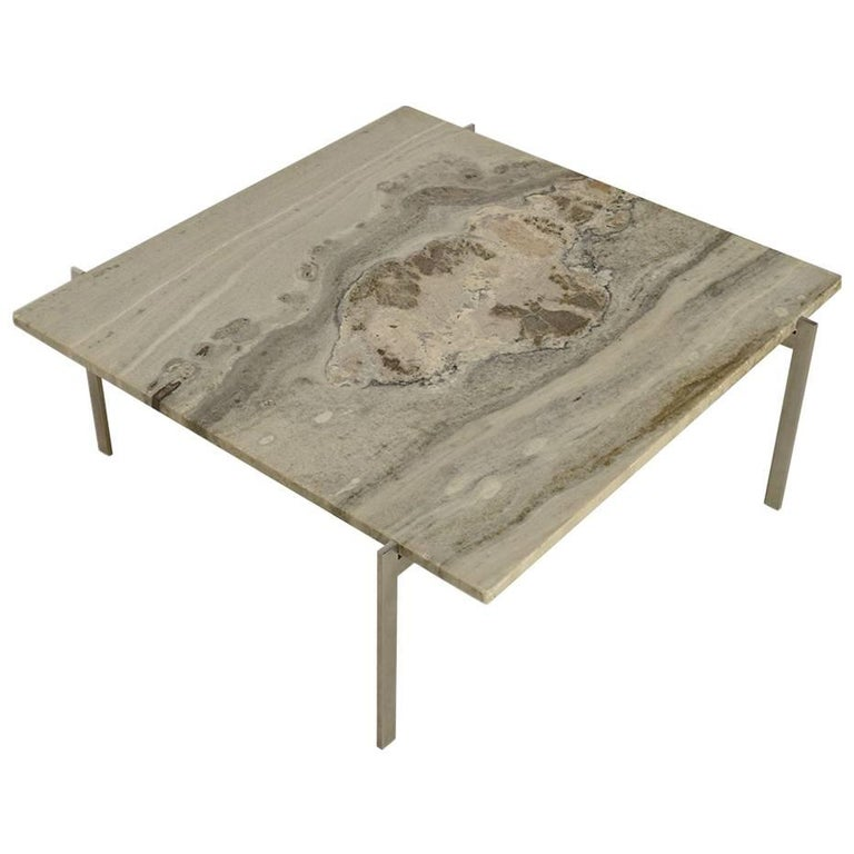 PK61 Coffee Table with Cipollini Marble by Poul Kjaerholm for E.Kold Christensen