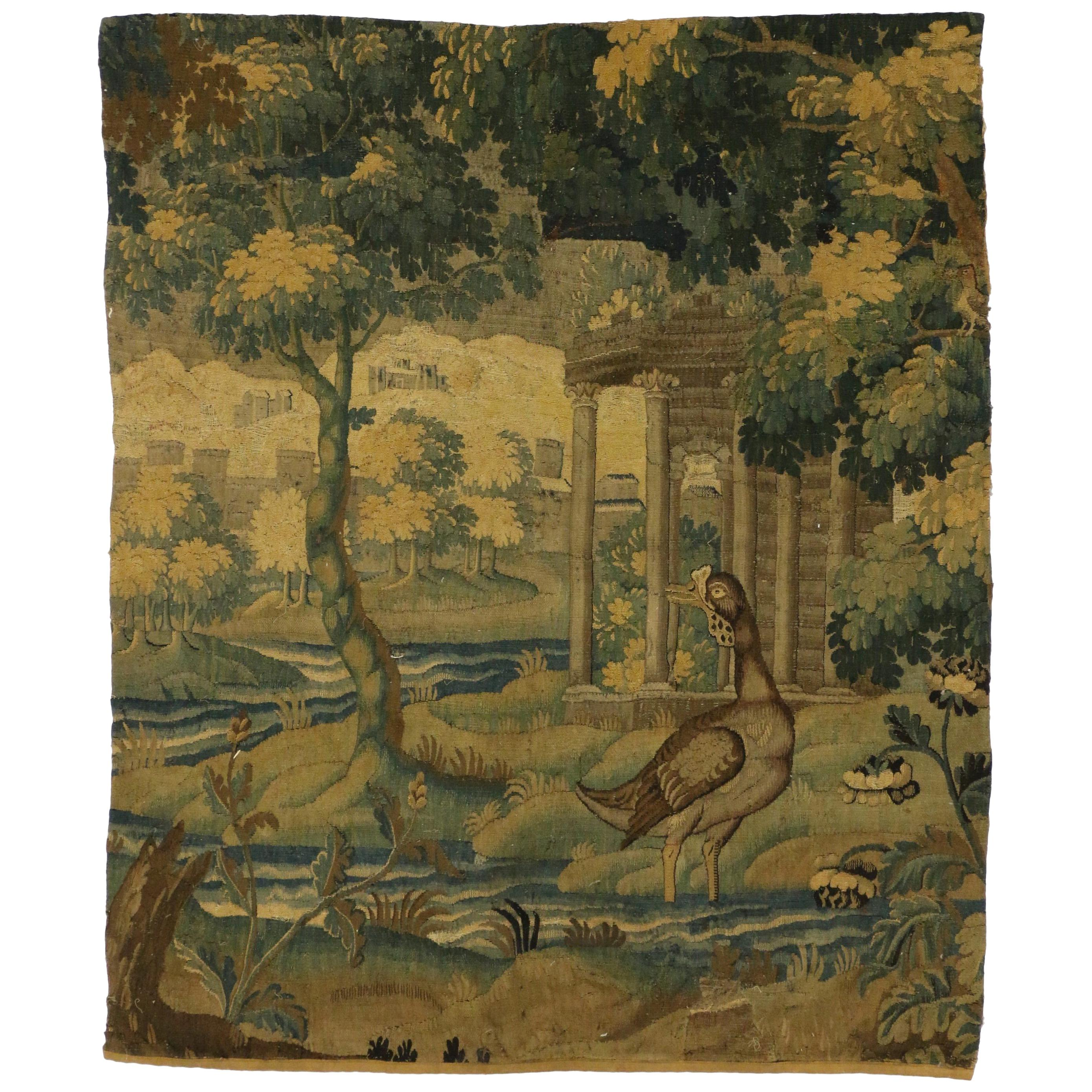 Late 18th Century Antique French Verdure Tapestry