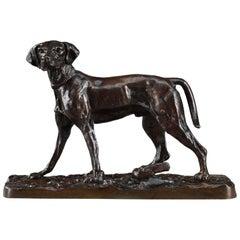 Bronze Animal Sculpture, Spaniel by Pierre-Jules Mène