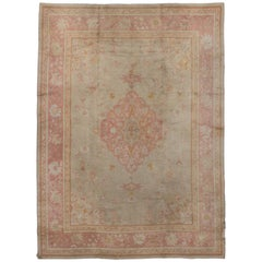 Antique European Rug with Traditional Style and Medallion Design