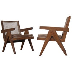 "Set of Two ""Easy Armchairs"" by Pierre Jeanneret"