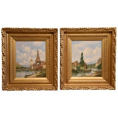 """""""Rhineland Views"""" Pair by Alfred Henry Vickers"""