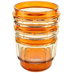 Art Deco Val Saint Lambert Orange Formosa Vase