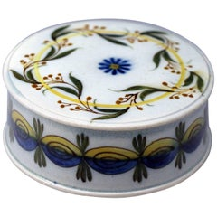 English Prattware Pottery Patch Box Made in Early 19th Century
