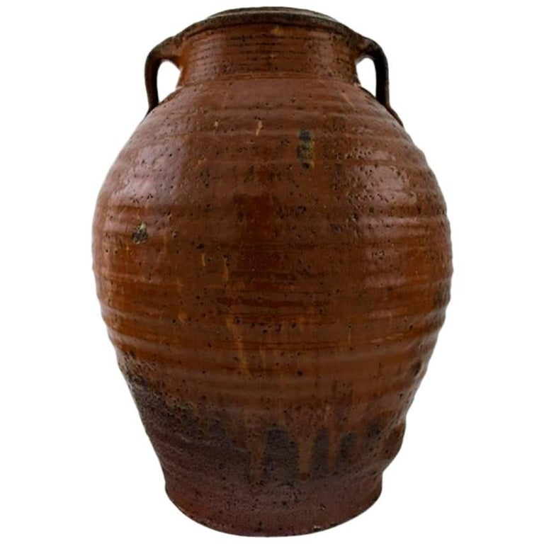 Gutte Eriksen, Large Unique Stoneware Vase