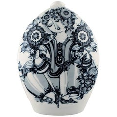 Rosenthal Studio Line, Bjorn Wiinblad Large Porcelain Vase, Decorated in Blue