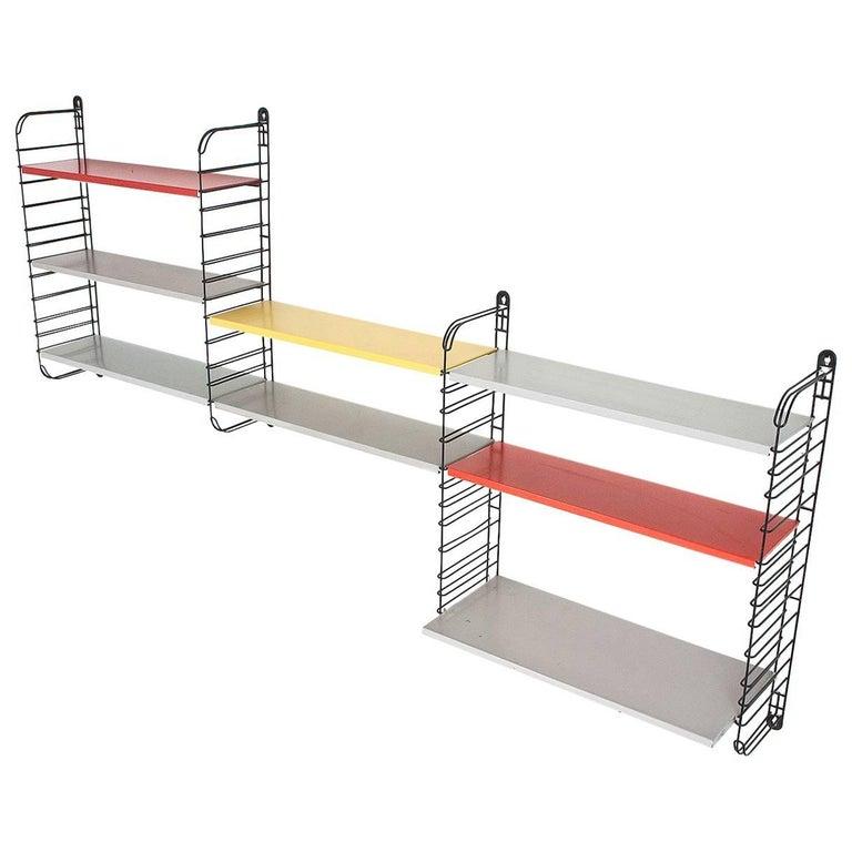 Original Multicolored Metal Wall Rack by Adrian Dekker for Tomado Holland, 1953
