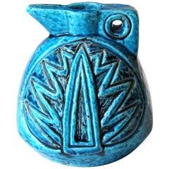 Rorstrand Art Deco CH Impressed Marks Swedish Art Pottery Carved Pitcher Vase