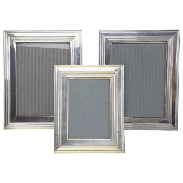 Set Of Three Vintage Silver Christofle Frames For Sale At 1stdibs