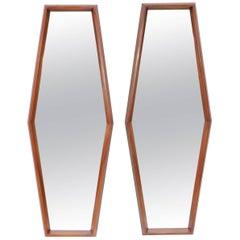 Mid-Century Modern Walnut Mirrors
