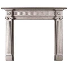 Elegant Georgian Style Limestone Fireplace
