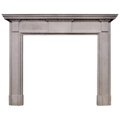 Limestone Fireplace in the Late Georgian Manner