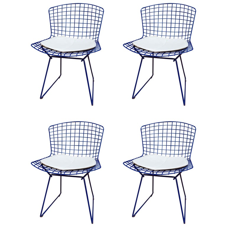 Set of Four Knoll Bertoia Side Chairs