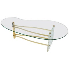 Charles Hollis Jones Coffee Table in Glass And Lucite