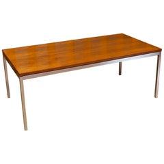Florence Knoll Walnut Coffee Table
