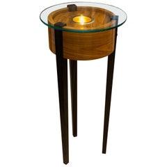 Bolivian Rosewood Lighted Pedestal
