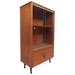 Midcentury Small Walnut Bookshelf or Cabinet