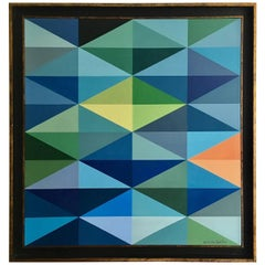 "Salvador Santos ""Geometric Diamonds 1"""