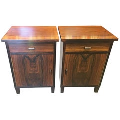 Pair of Early 20th Century Danish Rosewood Bedside Cabinets