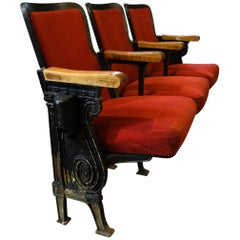 Red Upholstered Theater Seats
