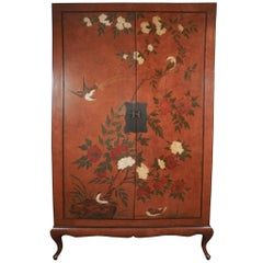 Chinoiserie Cabinet with Birds and Flowers