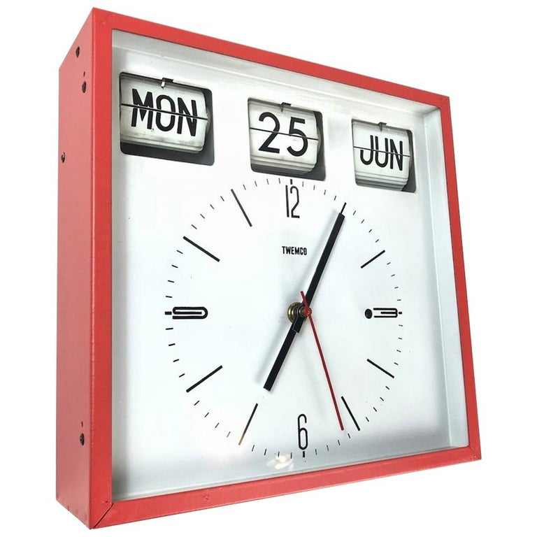 B B Lewis Double Dial Perpetual Calendar Wall Clock At