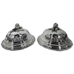 Pair of Regency Sterling Silver Serving Dishes by Robert Garrard II