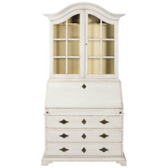 Painted Baroque Style Writing Cabinet