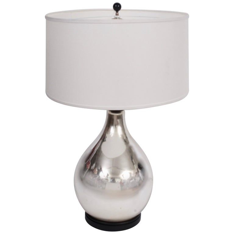 Chapman Manufacturing Co. Large Modern Mercury Glass Table Lamp, 1970s