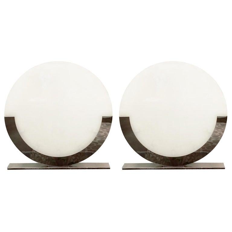 Italian Oversized Table Lamps / Floor Lamps