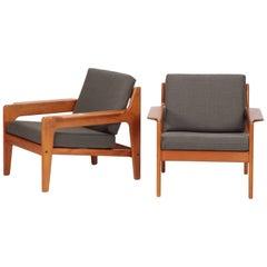 Teak Arne Wahl Iversen Lounge Chairs Komfort, 1960s