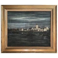 Jean Pierre Capron Oil on Canvas Landscape